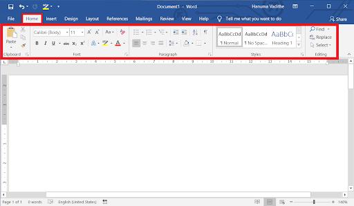 Ý nghĩa của các nút lệnh trên thanh công cụ Microsoft Word